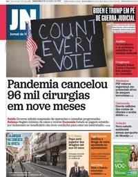 capa Jornal de Notícias de 5 novembro 2020