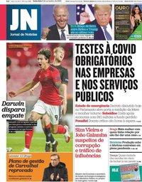 capa Jornal de Notícias de 6 novembro 2020