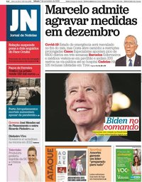 capa Jornal de Notícias de 7 novembro 2020