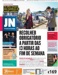 capa Jornal de Notícias de 8 novembro 2020
