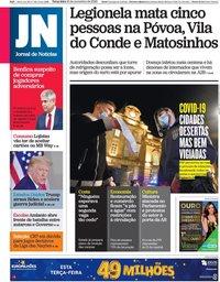 capa Jornal de Notícias de 10 novembro 2020