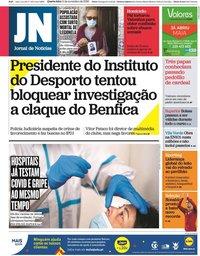 capa Jornal de Notícias de 11 novembro 2020