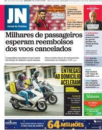 capa Jornal de Notícias de 12 novembro 2020