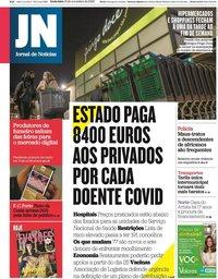 capa Jornal de Notícias de 13 novembro 2020