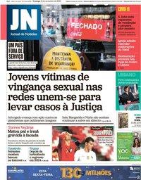 capa Jornal de Notícias de 15 novembro 2020