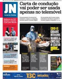 capa Jornal de Notícias de 16 novembro 2020
