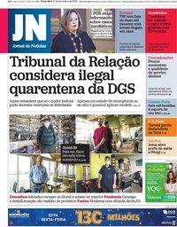 capa Jornal de Notícias de 17 novembro 2020
