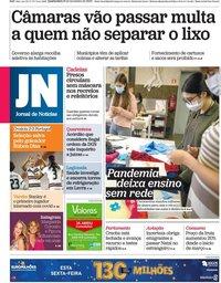 capa Jornal de Notícias de 18 novembro 2020