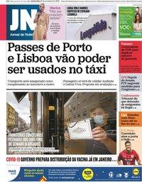 capa Jornal de Notícias de 19 novembro 2020