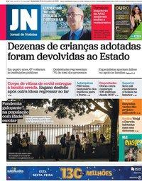 capa Jornal de Notícias de 20 novembro 2020