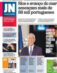 capa Jornal de Notícias de 21 novembro 2020
