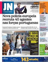 capa Jornal de Notícias de 23 novembro 2020