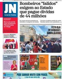 capa Jornal de Notícias de 30 novembro 2020