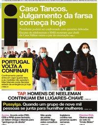 capa Jornal i de 2 novembro 2020