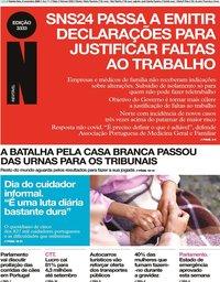capa Jornal i de 5 novembro 2020