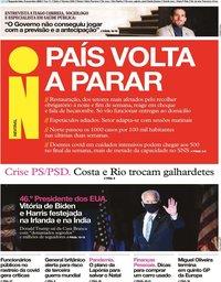 capa Jornal i de 9 novembro 2020