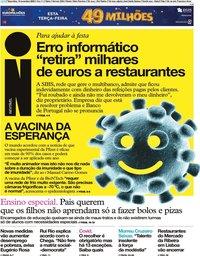 capa Jornal i de 10 novembro 2020