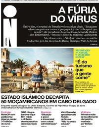capa Jornal i de 11 novembro 2020