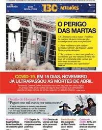 capa Jornal i de 16 novembro 2020