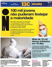 capa Jornal i de 18 novembro 2020
