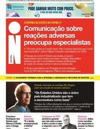 capa Jornal i de 30 novembro 2020