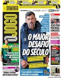 capa Jornal O Jogo de 1 novembro 2020