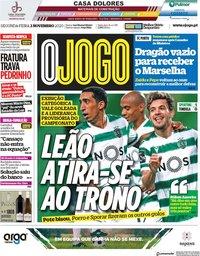 capa Jornal O Jogo de 2 novembro 2020