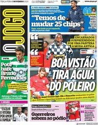 capa Jornal O Jogo de 3 novembro 2020