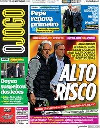 capa Jornal O Jogo de 5 novembro 2020