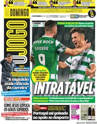 capa Jornal O Jogo de 8 novembro 2020