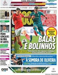 capa Jornal O Jogo de 9 novembro 2020