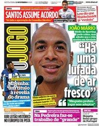 capa Jornal O Jogo de 13 novembro 2020