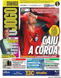 capa Jornal O Jogo de 15 novembro 2020