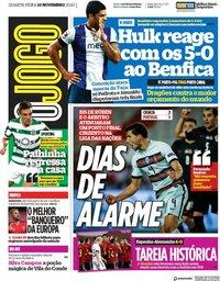 capa Jornal O Jogo de 18 novembro 2020