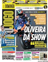 capa Jornal O Jogo de 22 novembro 2020