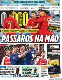 capa Jornal O Jogo de 27 novembro 2020