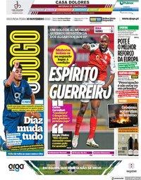 capa Jornal O Jogo de 30 novembro 2020