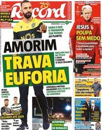 capa Jornal Record de 5 novembro 2020