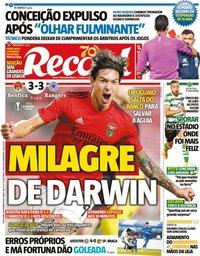 capa Jornal Record de 6 novembro 2020