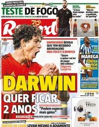 capa Jornal Record de 7 novembro 2020