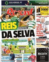 capa Jornal Record de 8 novembro 2020
