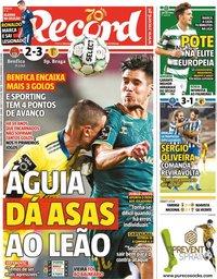 capa Jornal Record de 9 novembro 2020