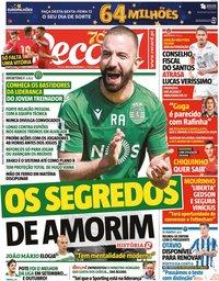 capa Jornal Record de 13 novembro 2020