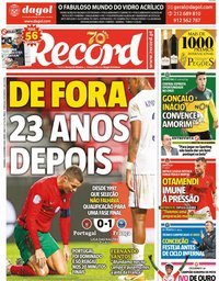 capa Jornal Record de 15 novembro 2020