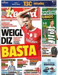 capa Jornal Record de 17 novembro 2020