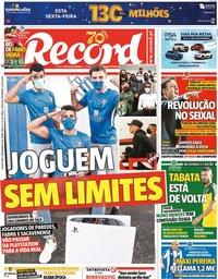 capa Jornal Record de 19 novembro 2020