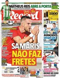 capa Jornal Record de 22 novembro 2020