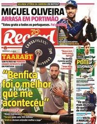 capa Jornal Record de 23 novembro 2020