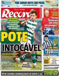 capa Jornal Record de 30 novembro 2020