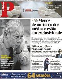 capa Público de 12 novembro 2020